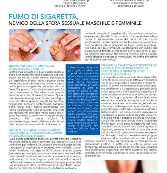 Intervista per La Piazza di Vicenza sui danni sessuali provocati dal fumo
